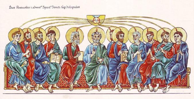 hortus_deliciarum2c_pfingsten_und_die_aussendung_des_heiligen_geistes_auf_die_apostel
