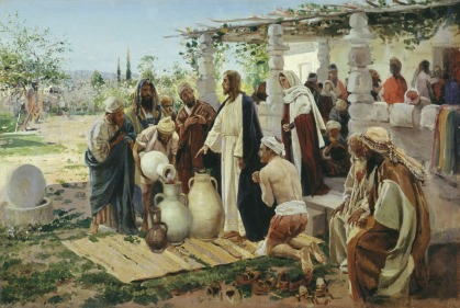 """The Miracle at Cana"" (1887), by Vladimir E. Makovsky (1846-1920), Vitebsk Regional Museum of Local Lore, Russia"