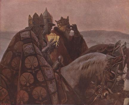 """""""Die heiligen drei Könige,"""" Piotr Stachiewicz (1858-1938), in Die Kunst für alle: Malerei, Plastik, Graphik, Architektur, 24 (1908-1909), Universitätsbibliothek Heidelberg."""