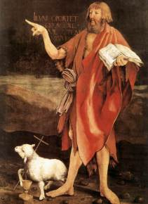 """John the Baptist' from the Isenheim Altarpiece, ca. 1515, by Matthias Grünewald (d. 1528), Unterlinden Museum."