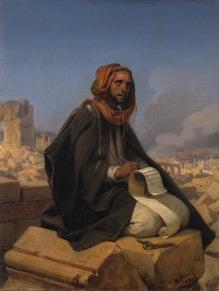 """""""Jeremia op de puinhopen van Jeruzalem"""" (1844), by Horace Vermet (1789-1863), Amsterdam Museum."""