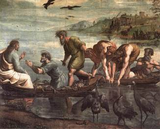 """The Miraculous Draught of Fishes"" (1515), by Raphael (1483-1520), Victoria and Albert Museum."