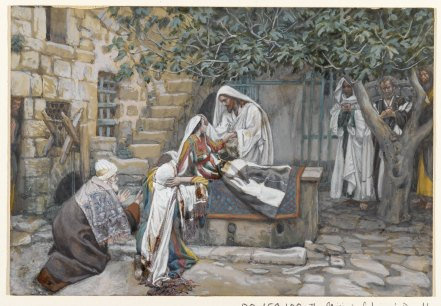 """The Daughter of Jairus (La fille de Zäire)"" (1886-1896), by James Tissot (1836-1902). Brooklyn Museum."