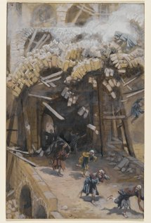 """The Tower of Siloam (Le tour de Siloë)"" (1886-1896), by James Tissot (1836-1902). The Brooklyn Museum."