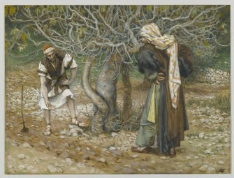 """The Vine Dresser and the Fig Tree (Le vigneron et le figuier)"" (1886-1894), by James Tissot (1836-1902). The Brooklyn Museum."