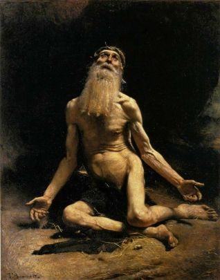 """Job"" (1880) by Leon Bonnat (1833-1922)"
