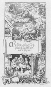 """""""Aller Augen warten auf Dich"""" (1866) by Adrian Ludwig Richter (1803-1884), from """"Eine Auslese aus den Werken des Meisters, Herausgegeben vom Leipziger Lehrer-Verein,"""" (Verlag von Alphons Dürr, Leipzig 1905)."""