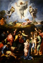 """The Transfiguration"" (1516-1520) by Raphael (1483-1520). Pinacoteca Vaticana, Vatican City."