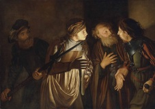"""The Denial of St. Peter"" (1607-1643?) by Adam de Coster (1586-1643). Private collection."