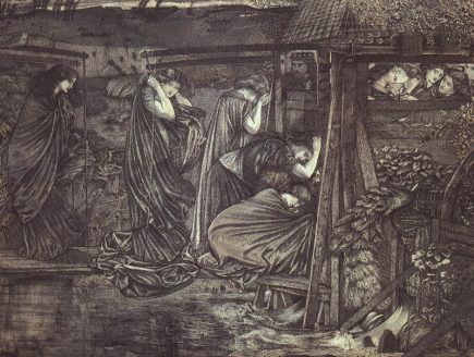 """The Wise and Foolish Virgins"" (1859), by Edward Burne-Jones (1833-1898)."