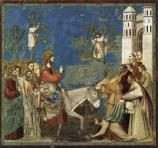 """No. 26 Scenes from the Life of Christ: 10. Entry into Jerusalem"" (1304-1306) by Giotto di Bondone (d. 1337), Scrovegni Chapel."