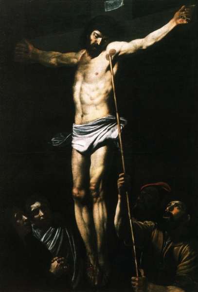 """Crocifissione"" (ca. 1610), by Giovanni Battista Caracciolo (Battistello Caracciolo) (1578-1635). Museo di Capidomonte, Naples."