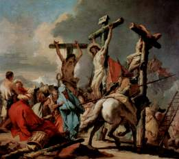 """Christ on the Cross"" (ca. 1745-1750), by Giovanni Battista Tiepolo (1696-1770). St. Louis Art Museum."
