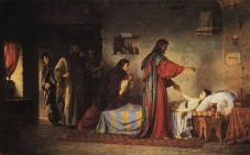 """The Resurrection of Jairus' Daughter"" (1871), by Vasily Polenov (1844-1927). Scientific-research Museum of the Russian Academy of Arts."