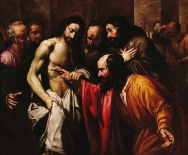 """Doubting Thomas"" (ca. 1620) by Giovanni Serodine (1594-1630). National Museum in Warsaw."