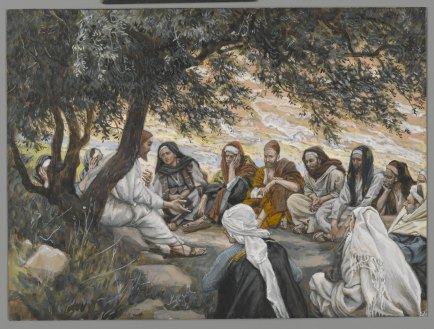 """The Exhortation to the Apostles/Recommandation aux apôtres"" (1886-1896), by James Tissot (1836-1902). Brooklyn Museum. Public Domain."
