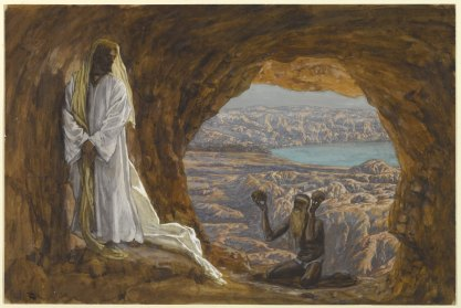 """Jesus Tempted in the Wilderness"" (1886-1894), by James Tissot (1836-1902). Brooklyn Museum. Public Domain."