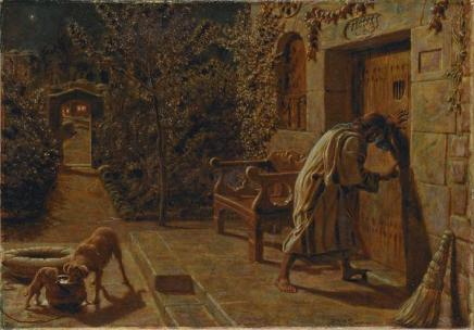 """The Importunate Neighbor"" (1895), by William Holman Hunt (1827-1910). National Gallery of Victoria. Public Domain."