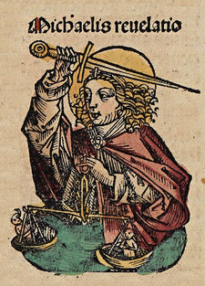 """Archangel Michael"" from the Nuremberg Chronicle, 15th Century"
