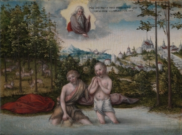 """The Baptism of Jesus"" (1546) by Lucas Cranach the Younger (1515-1586). Cleveland Museum of Art. Public Domain."