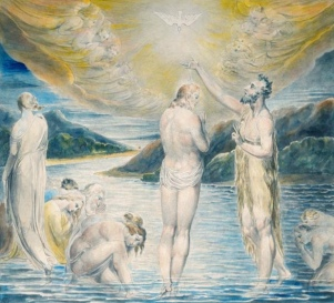 """The Baptism of Christ"" (1803) by William Blake (1757-1827), Ashmolean Museum, Oxford. Public Domain."
