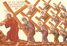 """He who...and let him take up his cross and follow behind me."""
