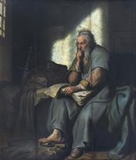 """Paul in Prison"" (1627) by Rembrandt van Rijn (1606-1669). Staatsgalerie, Stuttgart. PD-US. Public Domain."