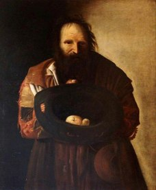 """A Beggar"" (1670-1729), after Georges de La Tour (1593-1652). Philipps House, National Trust, UK. Public Domain."