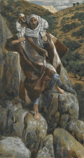 """The Good Shepherd"" (1886-1894) by James Tissot (1836-1902). The Brooklyn Museum. Public Domain."