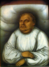 """Martin Luther in his Deathbed"" (before 1600), School of Lucas Cranach the Younger (1515-1586). Deutsches Historisches Museum, Berlin. Photographed by Wolfgang Sauber. Creative Commons Attribution-Share Alike 3.0 License."