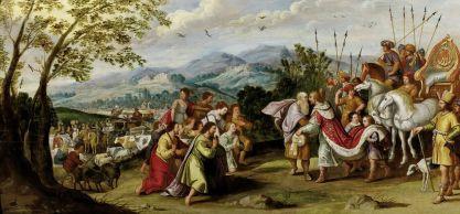 """Joseph offenbart sich seinen Brüdern in Ägypten"" (17th Century), Anonymous Flemish. Public Domain."