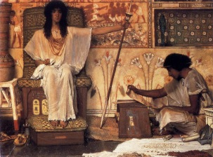 """Joseph Overseer of Pharaoh's Granaries"" (1874), by Lawrence Alma-Tadema (1836-1912). Dahesh Museum of Art, New York. Public Domain."