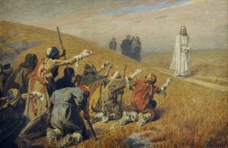 """""""Christus und die Aussätzigen"""" (ca. 1920) by Gebhard Fugel (1863-1939). Diözesanmuseum Freising, Public Domain."""