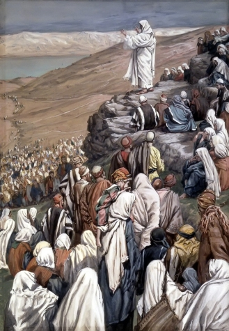 """Jesus Teaching the Beatitudes"" (ca. 1886-1896) by James Tissot (1836-1902). The Brooklyn Museum. Public Domain."