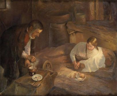 """""""Heilige Nacht"""" (1911) by Fritz von Uhde (1848-1911). Public Domain."""