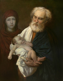 """St. Simeon with the Christ Child"" (2014) by Andrey N. Mironov. Creative Commons Attribution-Share Alike 4.0 International license."